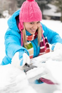girl-snow-scrape