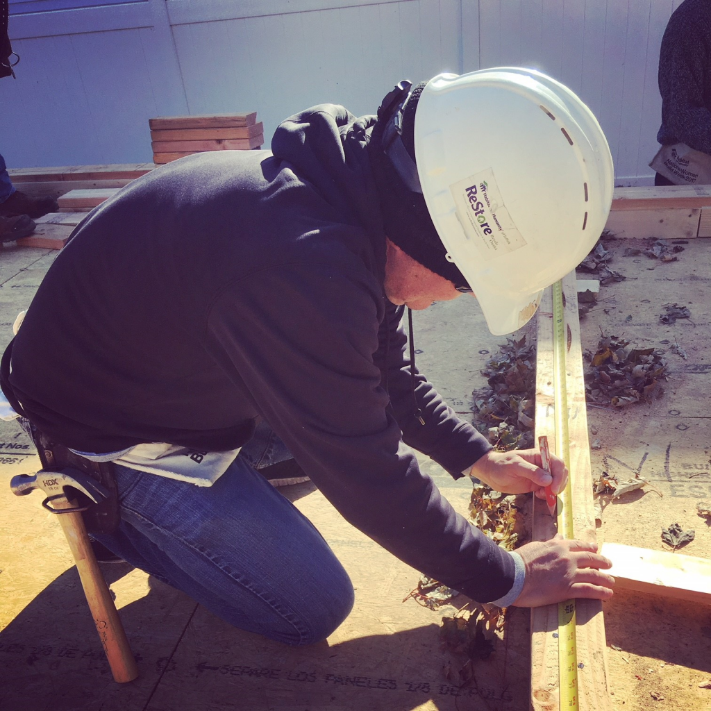 Jay DiPalma, Commercial Account Executive, measuring twice to cut once!