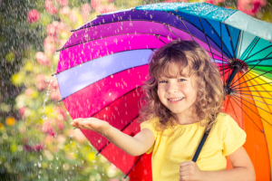 child-rain-spring