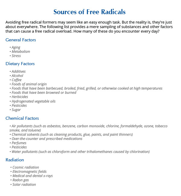 sources-free-radicals