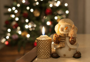 snowman-candle