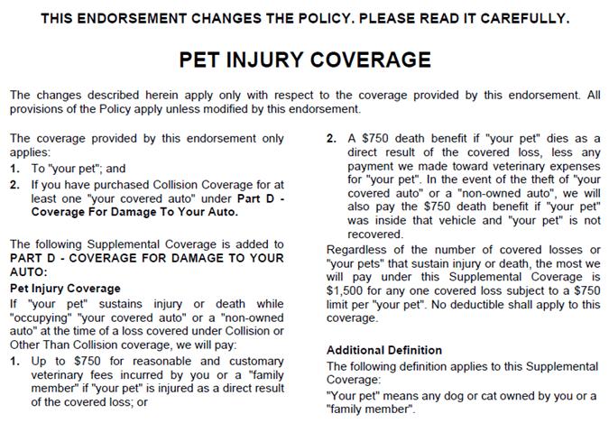 Pet Injury Coverage